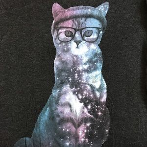 Galaxy Hipster Cat T-Shirt
